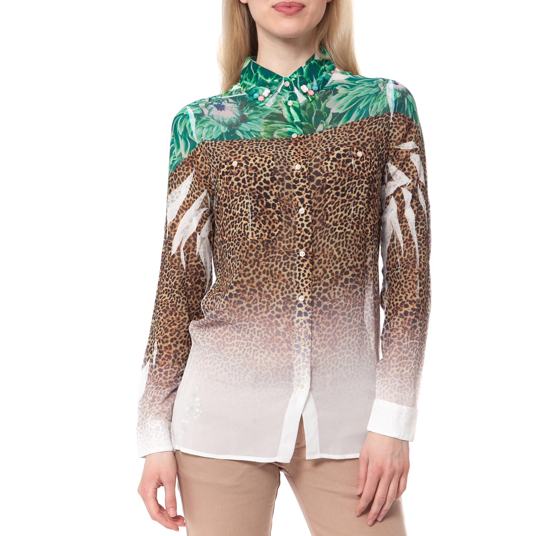 GUESS - Γυναικείο πουκάμισο Guess εμπριμέ γυναικεία ρούχα πουκάμισα μακρυμάνικα
