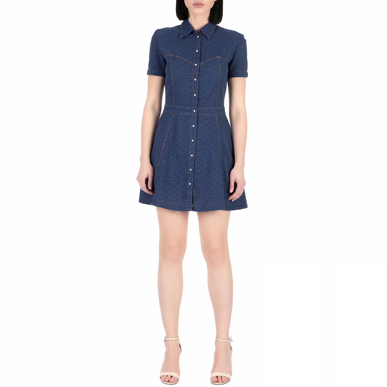 GUESS - Γυναικείο μίνι φόρεμα Guess MARAJA μπλε 4393ff245e1