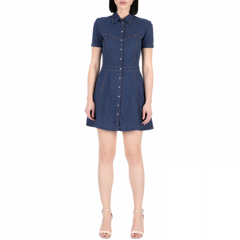 e7736571af56 GUESS – Γυναικείο μίνι φόρεμα Guess MARAJA μπλε