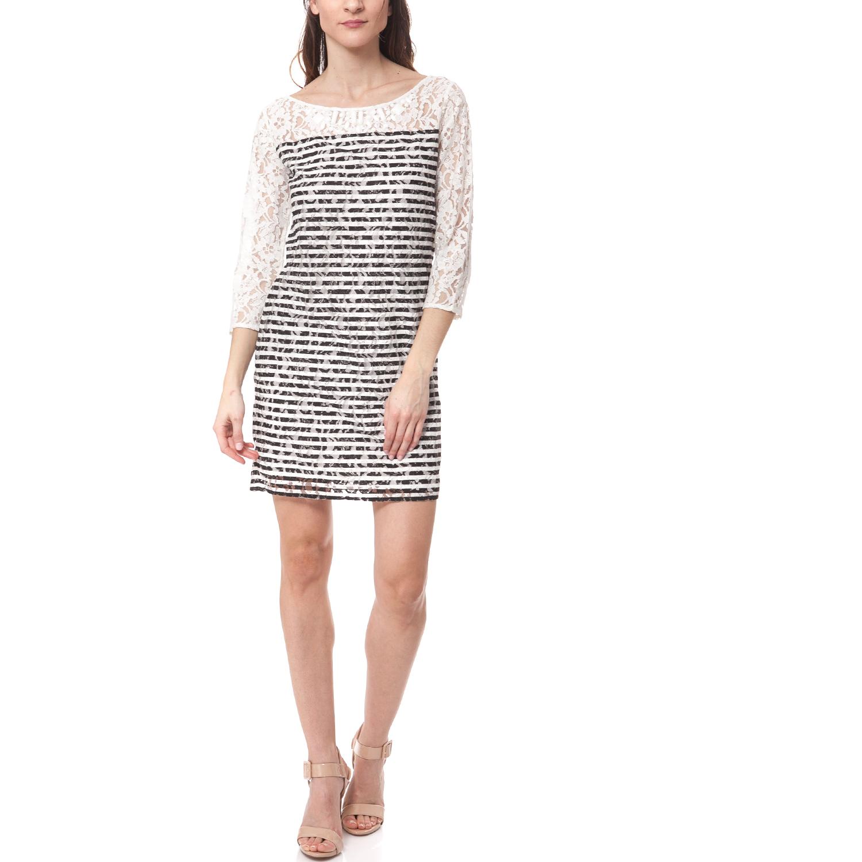 GUESS - Γυναικείο φόρεμα Guess μαύρο-λευκό γυναικεία ρούχα φορέματα μίνι