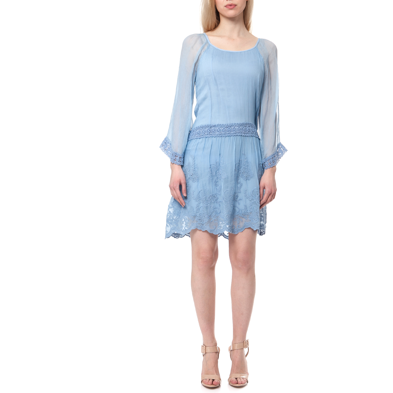 GUESS - Γυναικείο φόρεμα Guess γαλάζιο b5b170f784a