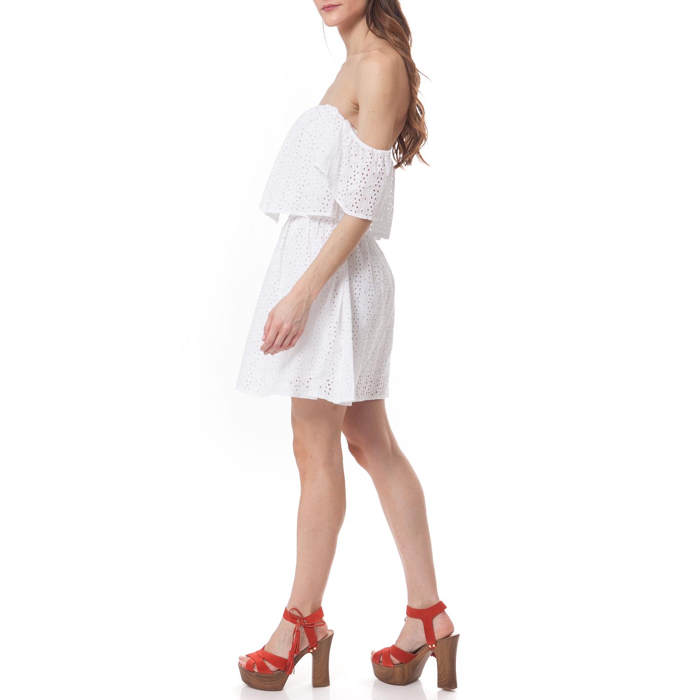 7b882aac0ce GUESS - Γυναικείο φόρεμα Guess λευκό, ΓΥΝΑΙΚΑ | ΡΟΥΧΑ | ΦΟΡΕΜΑΤΑ | ΚΟΝΤΑ