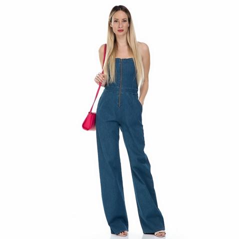 Γυναικεία ολόσωμη τζιν φόρμα flare Calvin Klein Jeans μπλε ... d90e3904aef