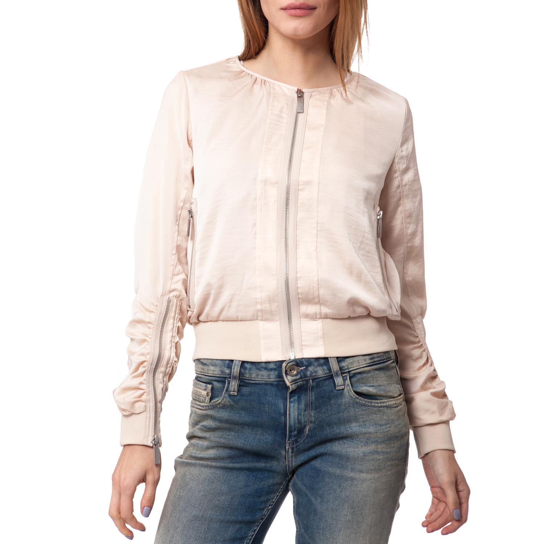 CALVIN KLEIN JEANS - Γυναικείο τζάκετ Calvin Klein Jeans μπεζ γυναικεία ρούχα πανωφόρια τζάκετς