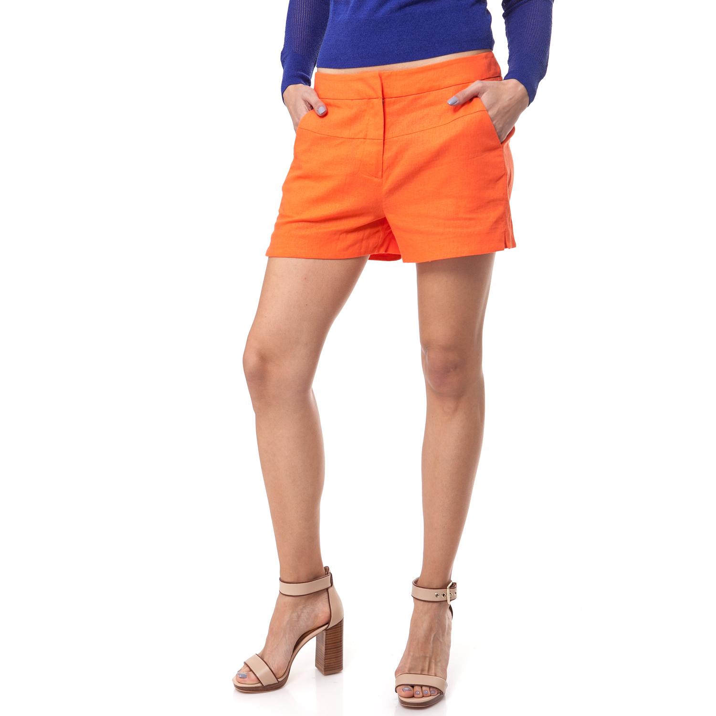 CALVIN KLEIN JEANS - Γυναικείο σορτς Calvin Klein Jeans πορτοκαλί γυναικεία ρούχα σορτς βερμούδες casual jean