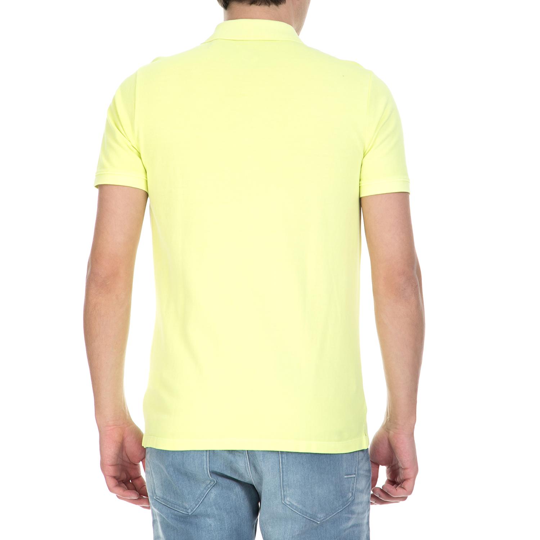 CALVIN KLEIN JEANS - Ανδρική κοντομάνικη μπλούζα polο Calvin Klein Jeans κίτρινη