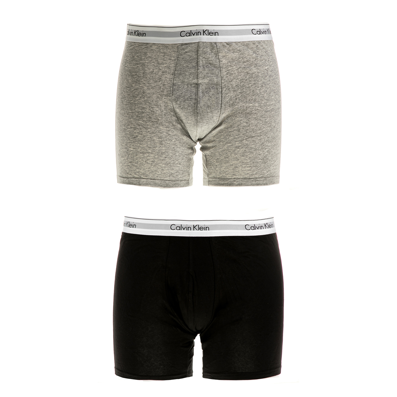 CK UNDERWEAR - Ανδρικό σετ μπόξερ Calvin Klein μαύρα-γκρι ανδρικά ρούχα εσώρουχα μπόξερ