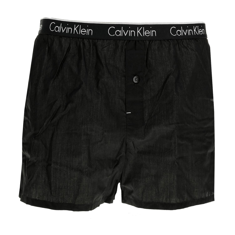 CK UNDERWEAR - Ανδρικό εσώρουχο CK Underwear SKINNY FIT BOXER μαύρο ανδρικά ρούχα εσώρουχα μπόξερ
