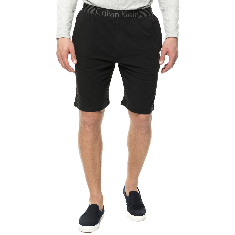 CK UNDERWEAR - Ανδρική πιτζάμα βερμούδα CK Underwear μαύρη ανδρικά ρούχα εσώρουχα πυτζάμες ρόμπες