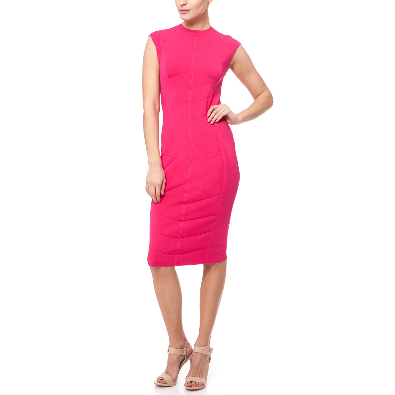 TED BAKER - Γυναικείο φόρεμα Ted Baker φούξια a4818fa929d