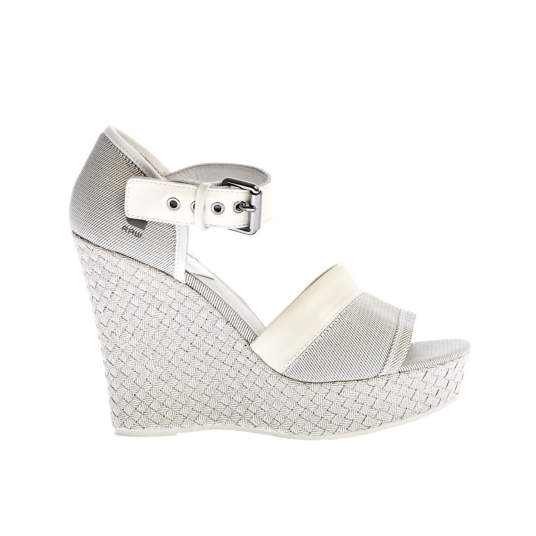 G-STAR RAW - Γυναικείες πλατφόρμες G-Star Raw λευκές γυναικεία παπούτσια πλατφόρμες