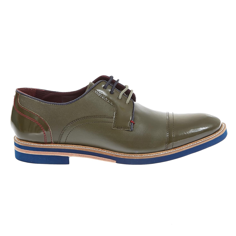 TED BAKER - Ανδρικά δετά παπούτσια BRAYTHE 2 πράσινα ανδρικά παπούτσια δετά επίσημα