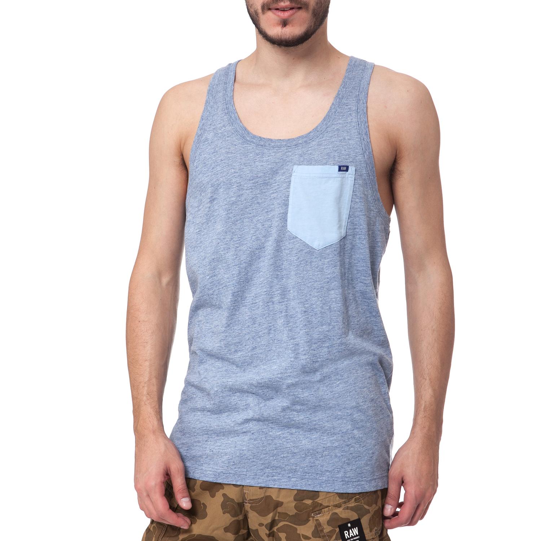 G-STAR RAW - Ανδρική μπλούζα G-Star Raw μπλε ανδρικά ρούχα μπλούζες αμάνικες