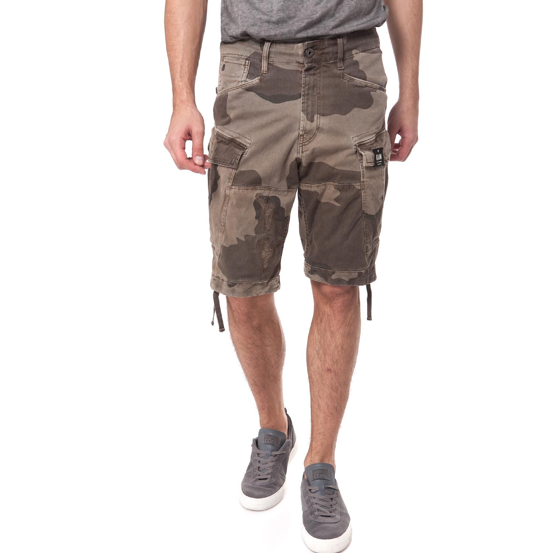 G-STAR RAW - Ανδρική βερμούδα G-Star Raw μπεζ-καφέ ανδρικά ρούχα σορτς βερμούδες casual jean