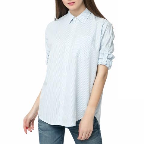 97a513aba8b5 Γυναικείο μακρυμάνικο ριγέ πουκάμισο Core bf pkt shirt λευκό-γαλάζιο ...