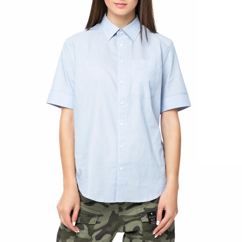 9c2222a4dd6f G-STAR RAW – Γυναικείο κοντομάνικο πουκάμισο G-STAR RAW Core bf γαλάζιο