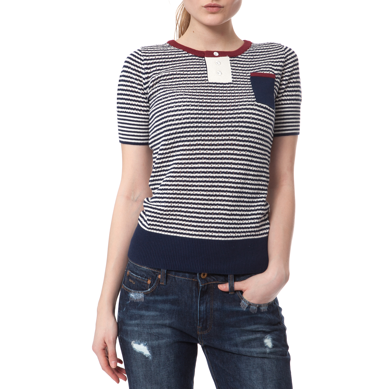 G-STAR - Γυναικεία μπλούζα G-STAR RAW ριγέ γυναικεία ρούχα μπλούζες τοπ