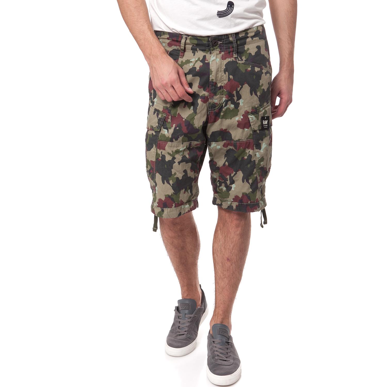 G-STAR RAW - Ανδρική βερμούδα G-Star Raw χακί ανδρικά ρούχα σορτς βερμούδες casual jean