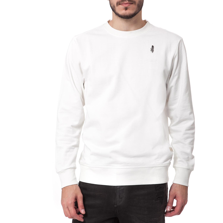G-STAR RAW - Ανδρική μπλούζα G-Star Raw λευκή ανδρικά ρούχα φούτερ μπλούζες