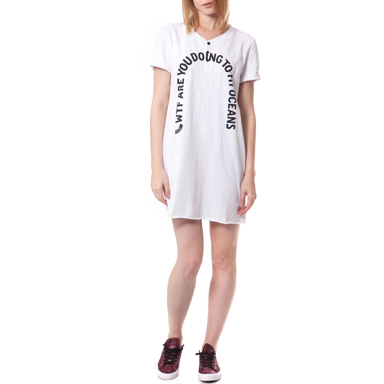 G-STAR RAW - Γυναικείο φόρεμα G-Star Raw λευκό γυναικεία ρούχα φορέματα μίνι