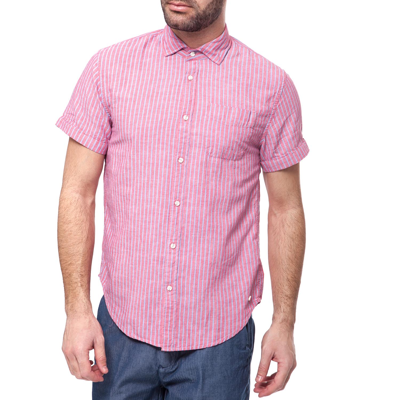 711c2110925e SCOTCH   SODA - Ανδρικό πουκάμισο Scotch   Soda ροζ-μπλε