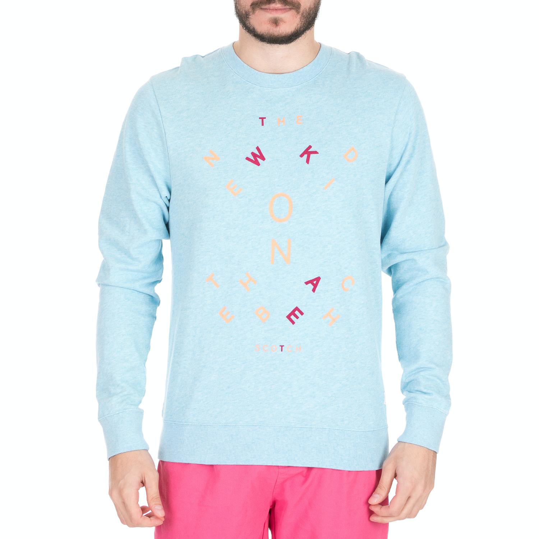 SCOTCH & SODA - Ανδρική φούτερ μπλούζα SCOTCH & SODA μπλε