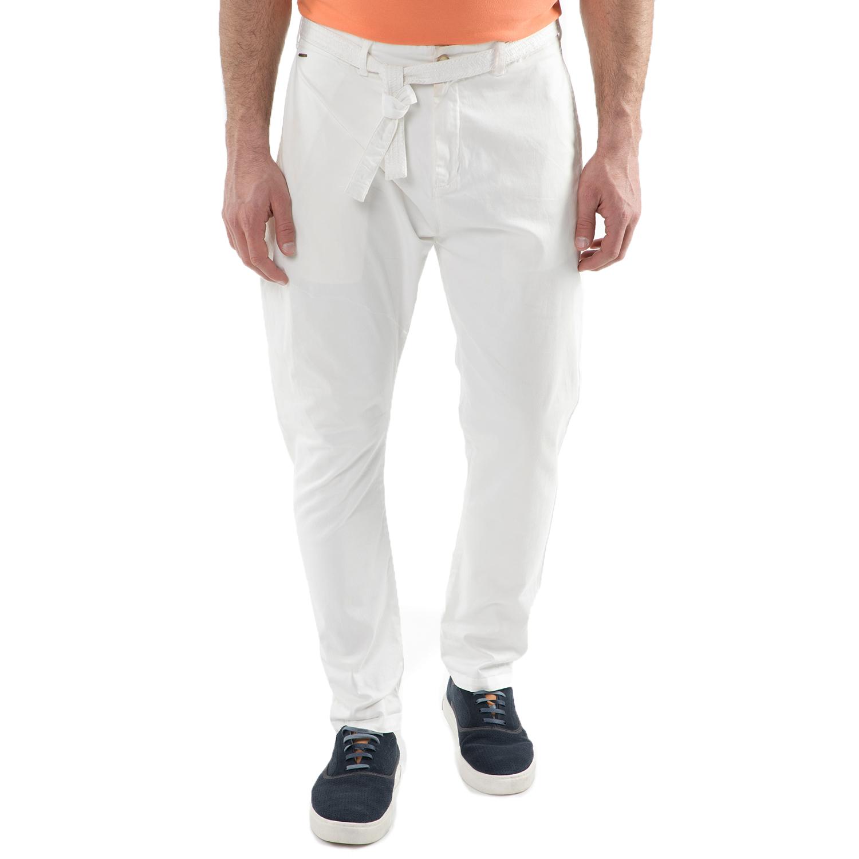 SCOTCH & SODA - Ανδρικό παντελόνι Scotch & Soda Layered folded chino λευκό ανδρικά ρούχα παντελόνια chinos