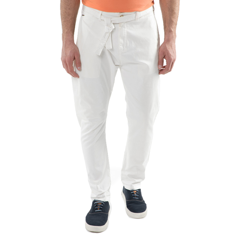 SCOTCH & SODA - Ανδρικό παντελόνι Scotch & Soda Layered folded chino λευκό