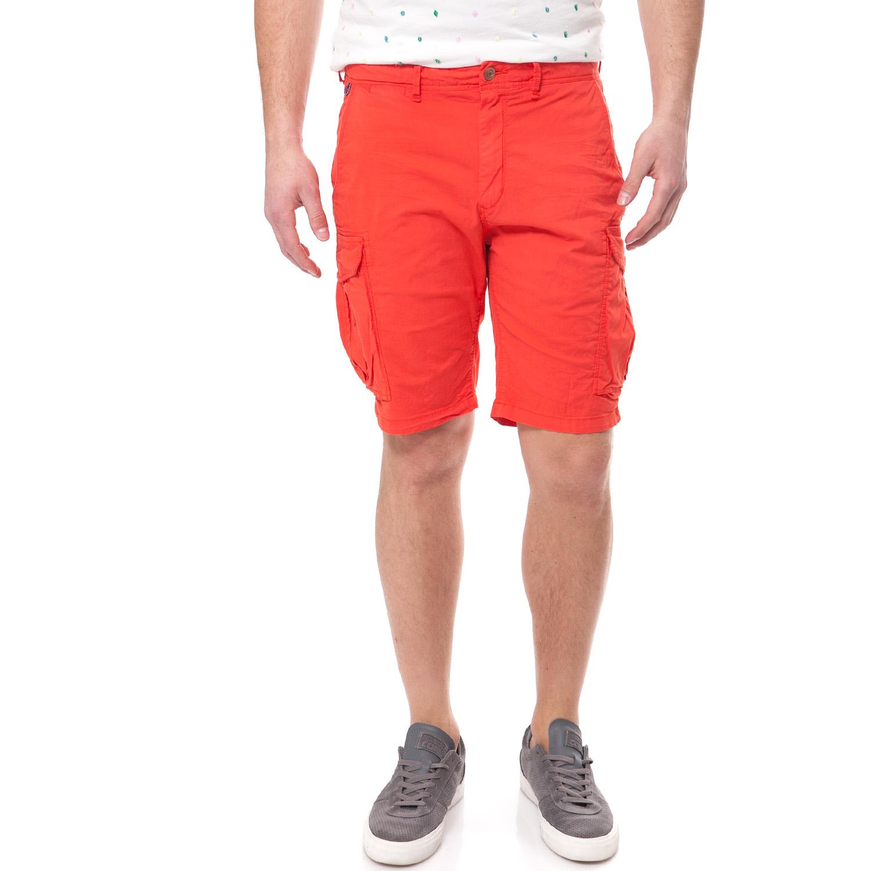 SCOTCH & SODA - Ανδρική βερμούδα Scotch & Soda κόκκινη ανδρικά ρούχα σορτς βερμούδες casual jean