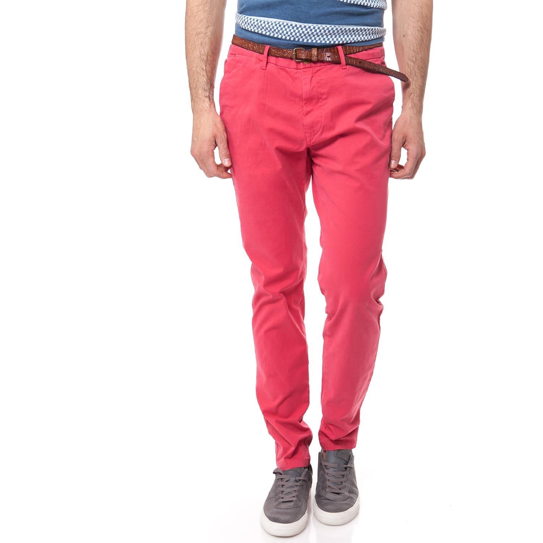 SCOTCH & SODA - Ανδρικό παντελόνι Scotch & Soda κοραλί ανδρικά ρούχα παντελόνια chinos