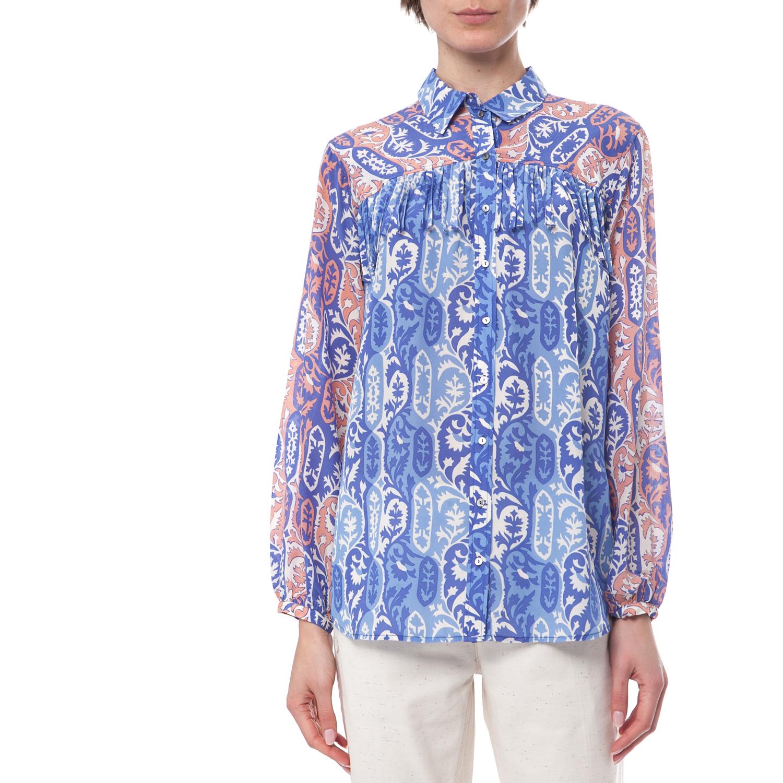 SCOTCH & SODA - Γυναικείο πουκάμισο Maison Scotch μπλε-λευκό γυναικεία ρούχα πουκάμισα μακρυμάνικα