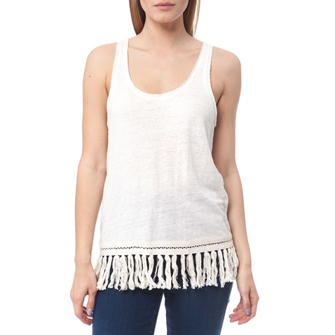 MAISON SCOTCH-Γυναικεία μπλούζα Maison Scotch λευκή εκρού