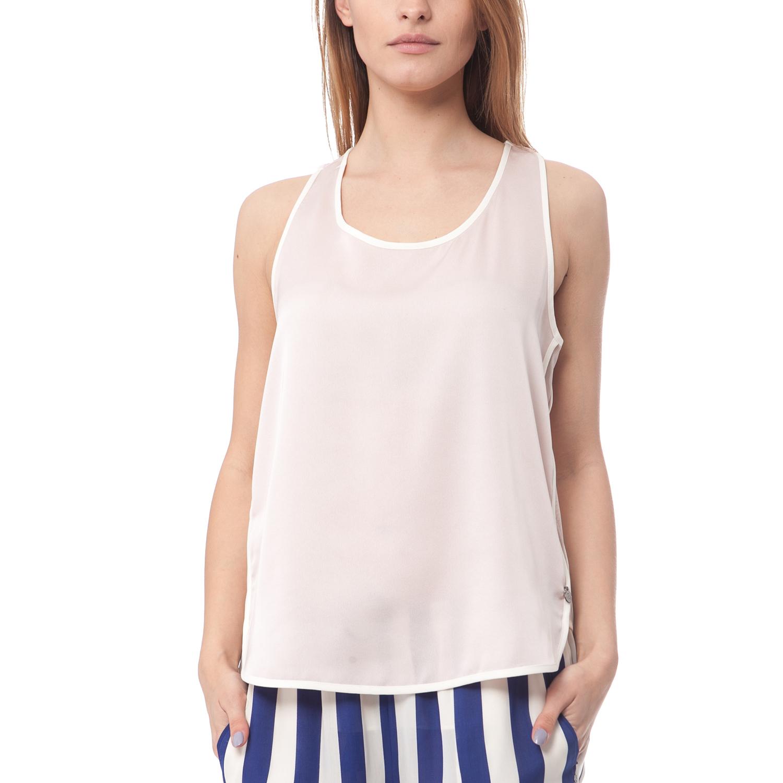 SCOTCH & SODA - Γυναικείο top Maison Scotch λευκό γυναικεία ρούχα μπλούζες αμάνικες