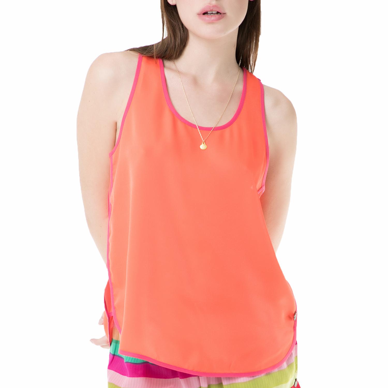 SCOTCH & SODA - Γυναικεία αμάνικη μπλούζα SCOTCH & SODA πορτοκαλί γυναικεία ρούχα μπλούζες αμάνικες