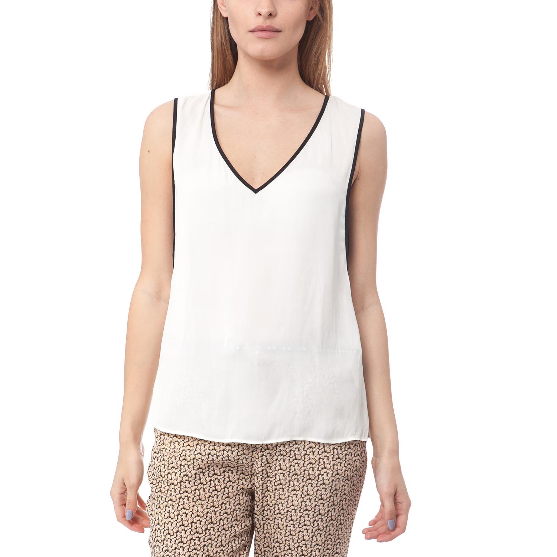 SCOTCH & SODA - Γυναικείο αμάνικο top Maison Scotch λευκό γυναικεία ρούχα μπλούζες αμάνικες