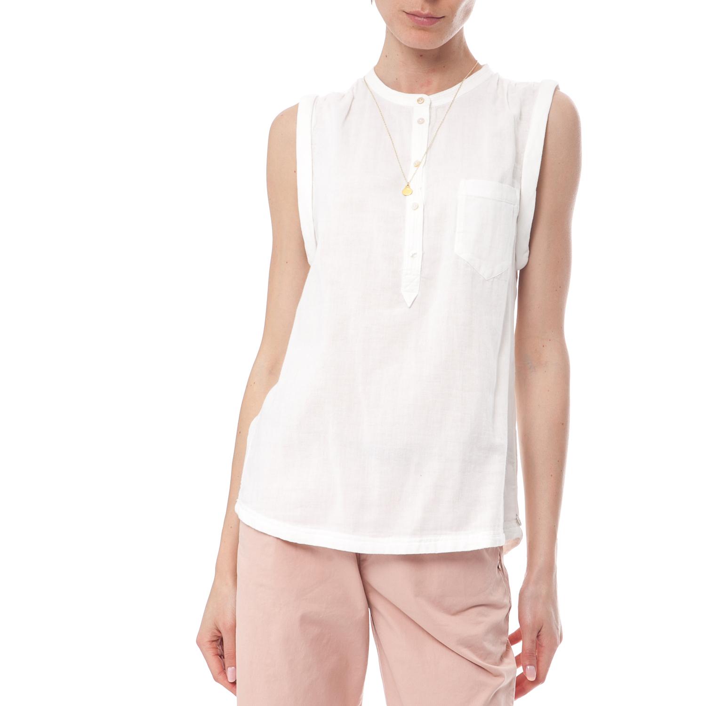 SCOTCH & SODA - Γυναικείο πουκάμισο Maison Scotch λευκό γυναικεία ρούχα πουκάμισα κοντομάνικα αμάνικα
