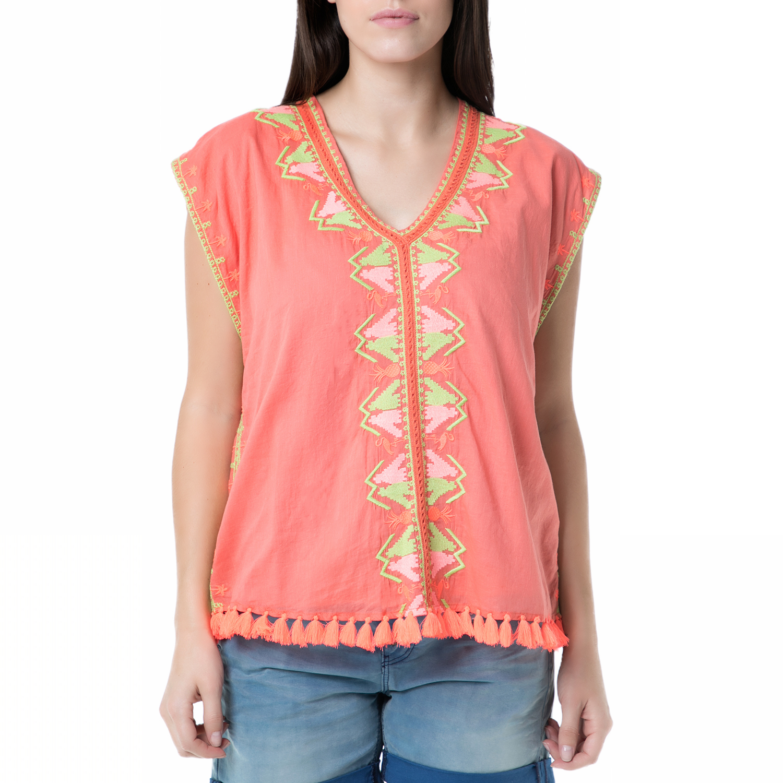 SCOTCH & SODA - Γυναικεία αμάνικη μπλούζα boho Scotch & Soda κοραλί γυναικεία ρούχα μπλούζες αμάνικες
