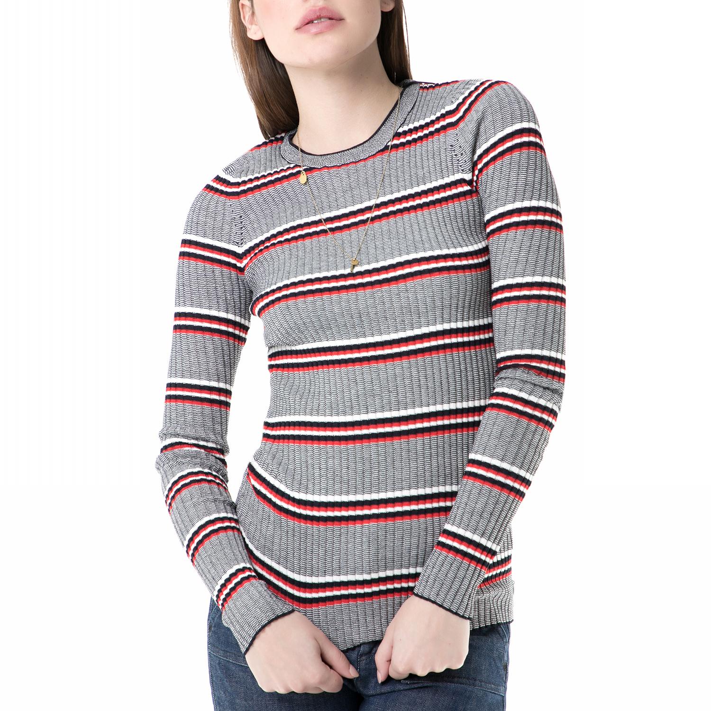 01e21c8c9f4b SCOTCH   SODA - Γυναικεία πλεκτή μπλούζα SCOTCH   SODA γκρι