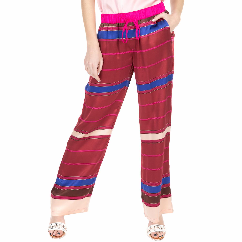 6fd010e66a1f SCOTCH   SODA - Γυναικεία παντελόνα Scotch   Soda Silk wide leg striped  pants κόκκινη