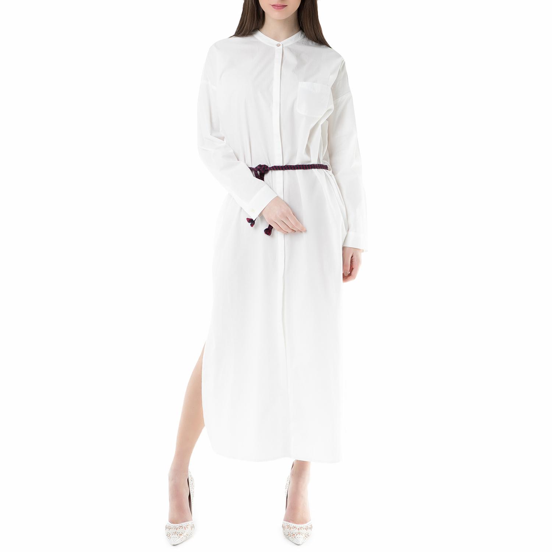 SCOTCH & SODA - Μάξι φόρεμα SCOTCH & SODA λευκό γυναικεία ρούχα φορέματα μάξι
