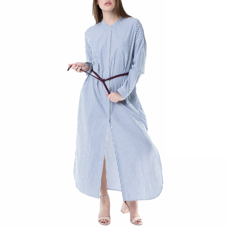 SCOTCH & SODA - Μάξι φόρεμα SCOTCH & SODA γαλάζιο με ρίγες γυναικεία ρούχα φορέματα μάξι