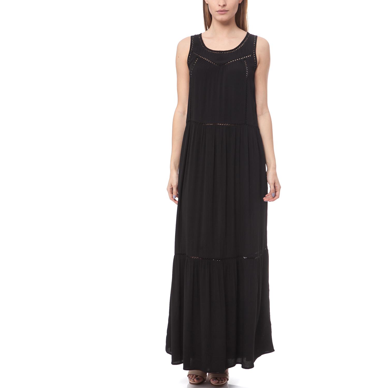 SCOTCH & SODA - Maxi φόρεμα Maison Scotch μαύρο All you need is a black maxi dress. Το must have του καλοκαιριού που δεν πρέπει να λείπει από την ντουλάπα σου! Μαύρο maxi φόρεμα με διάτρητα στοιχεία. Συνδύασέ το με αξεσουάρ σε έντονα καλοκαιρινά χρ