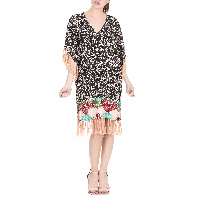 SCOTCH & SODA - Γυναικείο midi φόρεμα Scotch & Soda Silky feel kimono dress εμπρ γυναικεία ρούχα φορέματα μέχρι το γόνατο