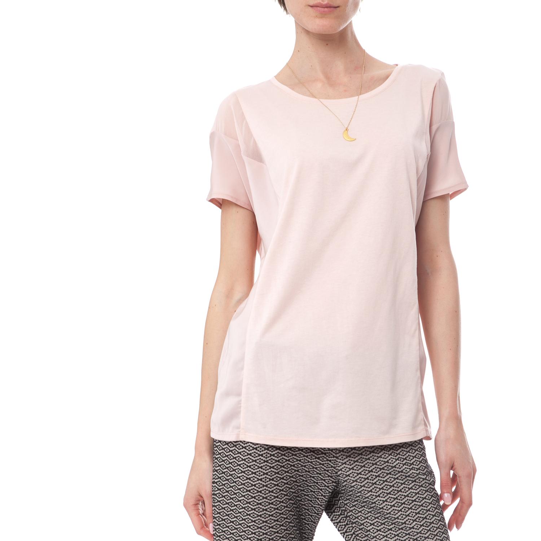 SCOTCH & SODA - Γυναικείο T-Shirt Maison Scotch ροζ γυναικεία ρούχα μπλούζες κοντομάνικες