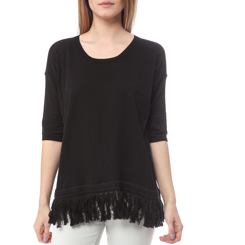 6138cd88239 SCOTCH & SODA - Γυναικεία μπλούζα Maison Scotch μαύρη ⋆ pressmedoll.gr