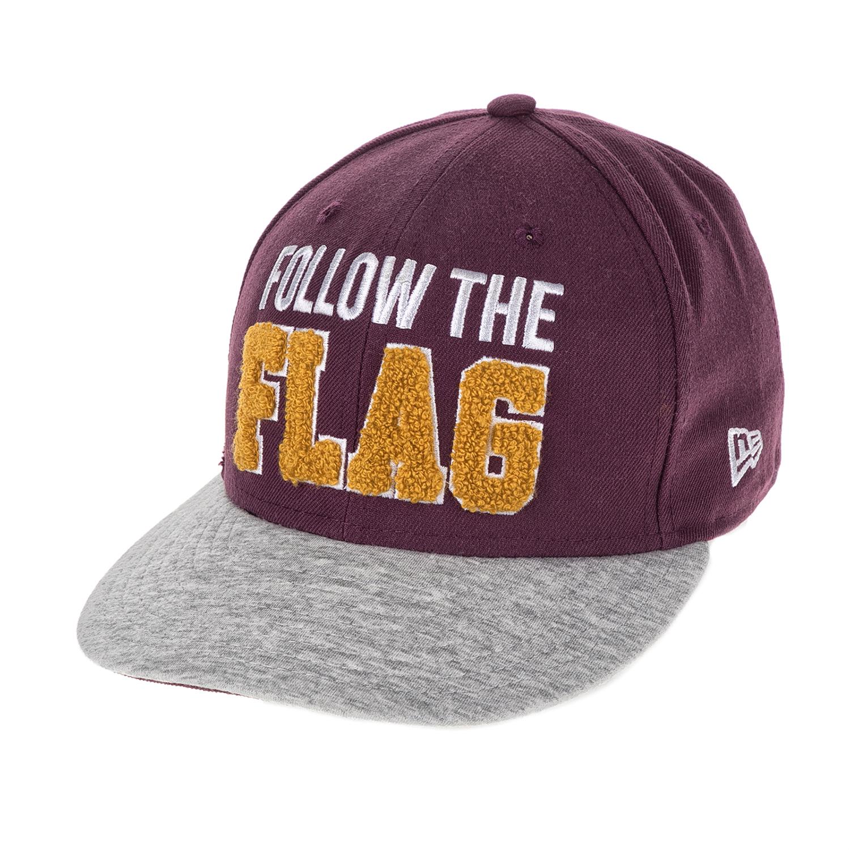 NEW ERA - Unisex καπέλο FOLOW THE FLAG NEWER NEW ERA μπορντό-γκρι