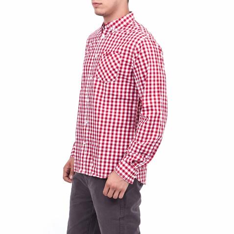 0dcd7fc9b647 Ανδρικό πουκάμισο Funky Buddha κόκκινο-λευκό (1457046.0-4591 ...