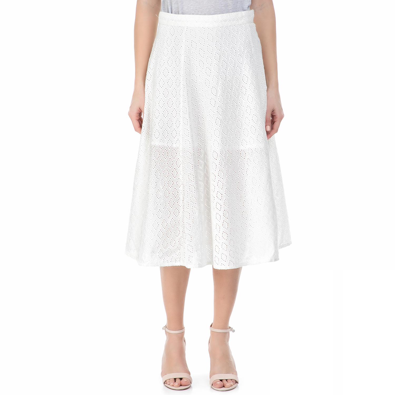 GARCIA JEANS - Μίντι φούστα GARCIA JEANS λευκή fc03e9b149e