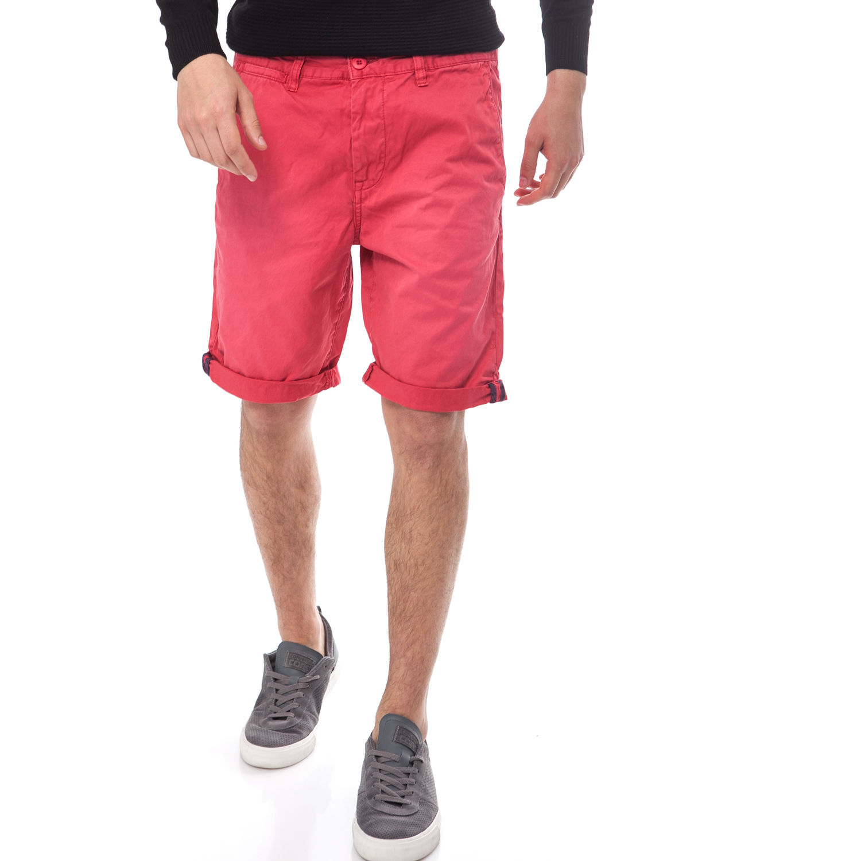 GARCIA JEANS - Ανδρική βερμούδα Garcia Jeans κόκκινη ανδρικά ρούχα σορτς βερμούδες casual jean
