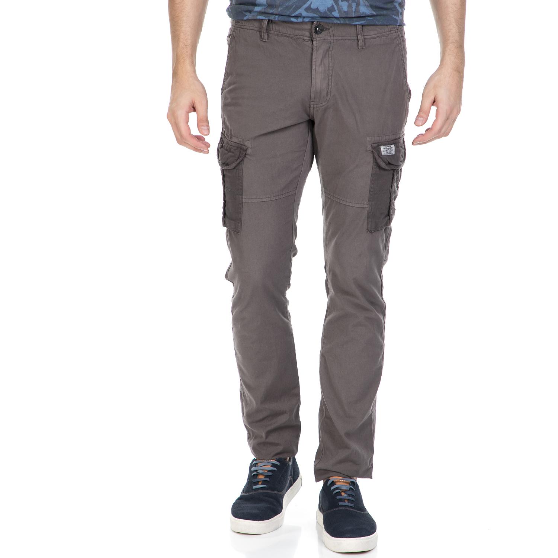 GARCIA JEANS - Ανδρικό παντελόνι με τσέπες GARCIA JEANS γκρι ανδρικά ρούχα παντελόνια cargo